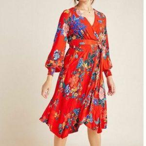 Anthropologie Boswell Faux Wrap Tunic Dress 0 EUC